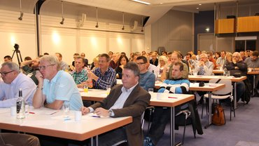 Die ver.di-Veranstaltung zur Energiewende stößt auf großes Interesse.