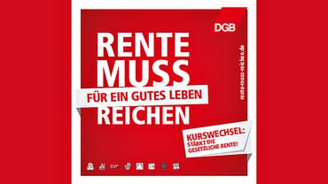 Rente muss reichen (Kampagnen-Logo)