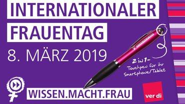 Frauentag 2019, Postkart ver.di Frauen Stuttgart